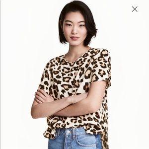 H&M leopard print blouse